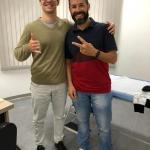 Esse é meu querido paciente Adriano. Ele é atleta amador de Triatlhon e vegetariano. Ele é a prova de que bons resultados podem ser atingidos com alimentação vegetariana.